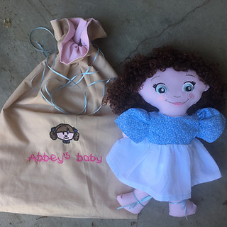 Personalized, handmade doll