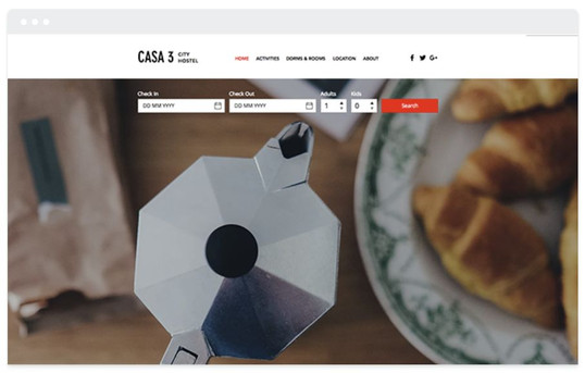 création site web hotelier