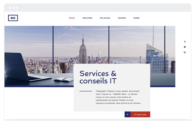 Site vitrine Informatique