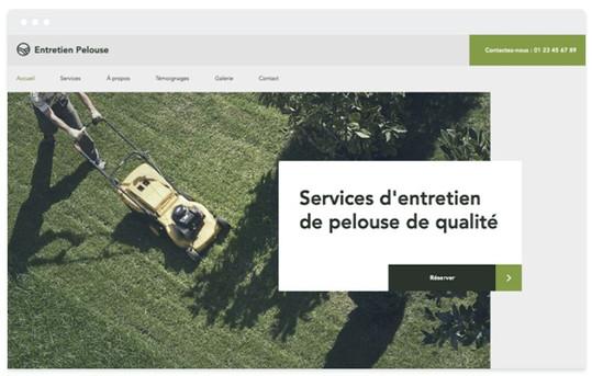 Création site web paysagiste