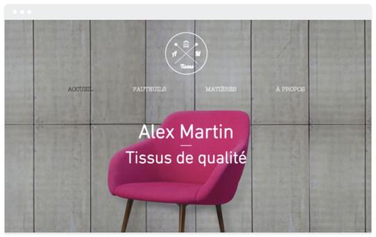 Création site web tapissier