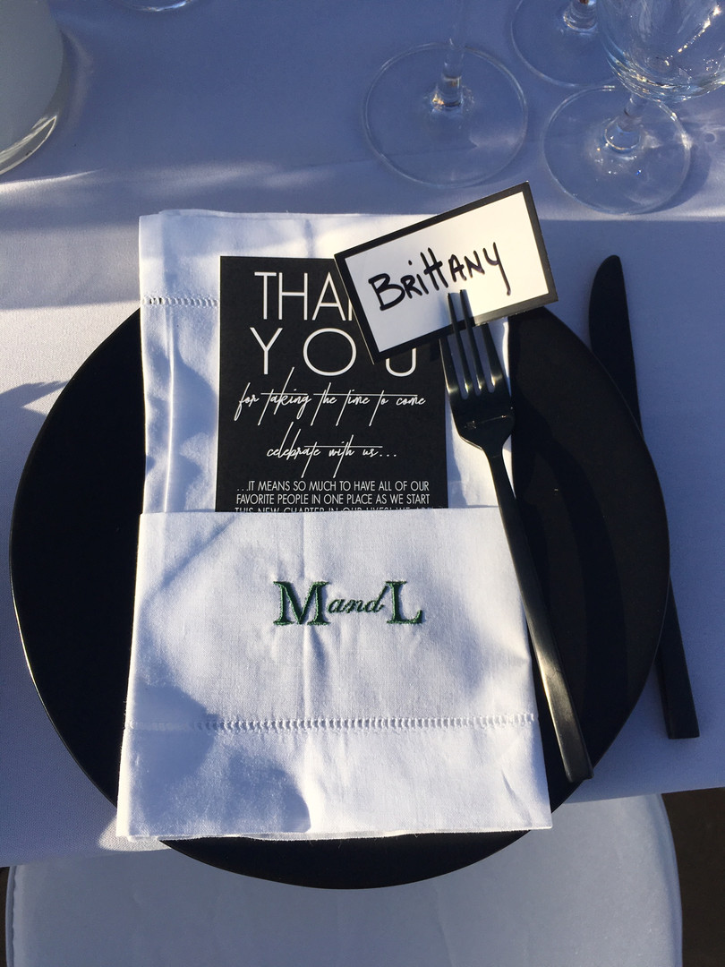 Megan's napkins for the head table