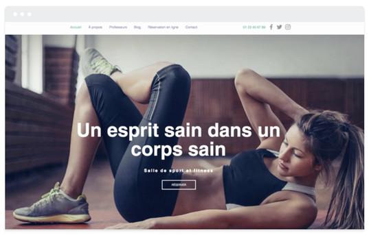 création site web salle de gym