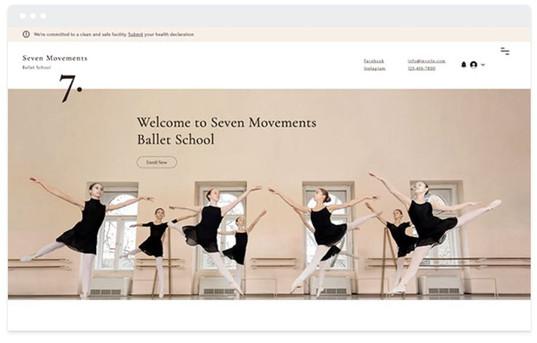 création site web cours de danse