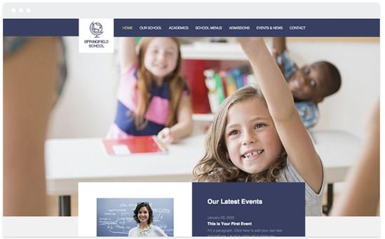 Création site web administration scolaire