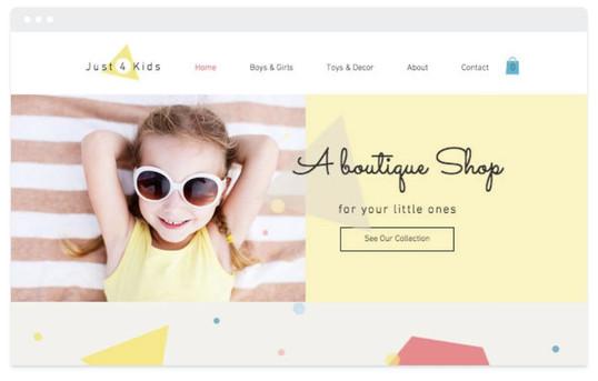 création site web magasin enfant