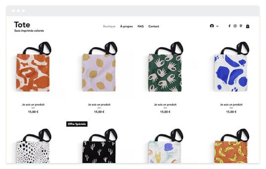 création site web boutique en ligne