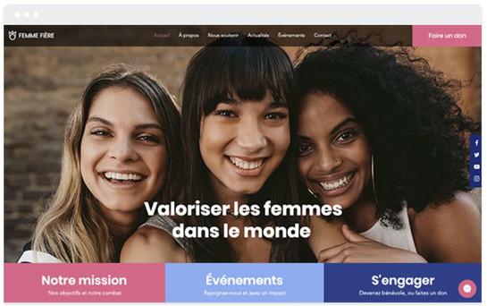 Création site web association femme