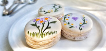 Hand-painted macarons