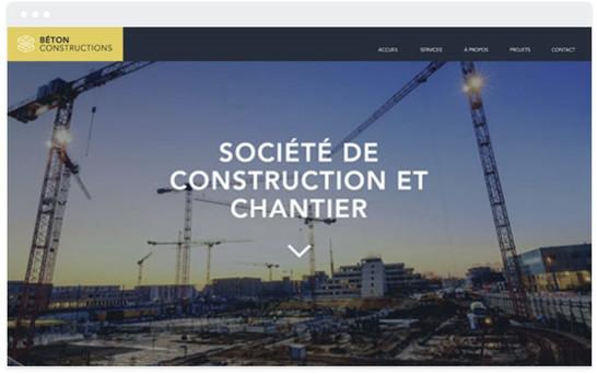 création site web chantier