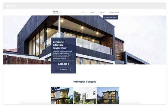 création site web immobilier de luxe