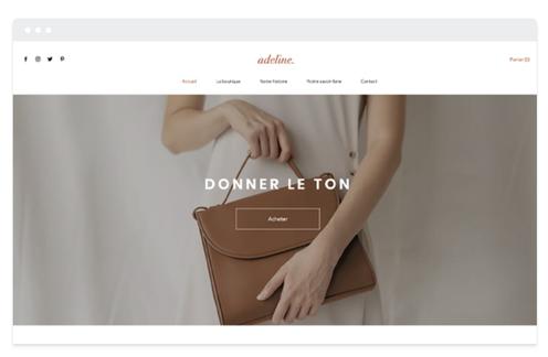 site vitrine boutique mode