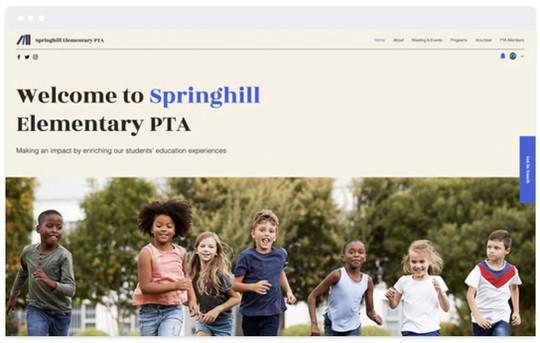 Création site web association école