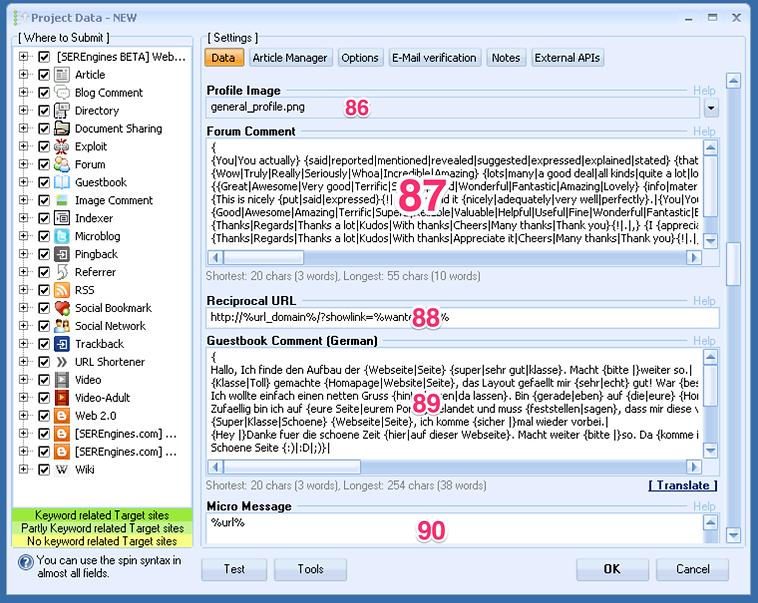 tutoriel francais GSA Search Engine Ranker pour les nuls