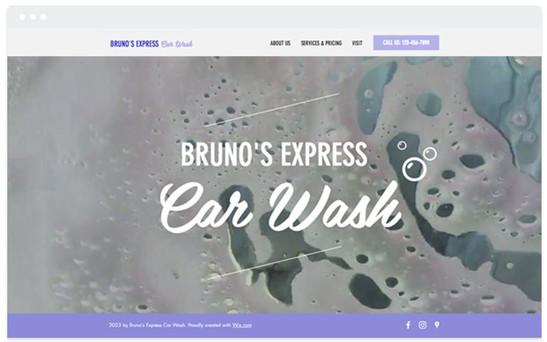 Création site web lavage auto