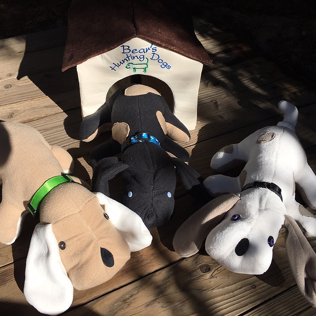 Plush puppies and home...