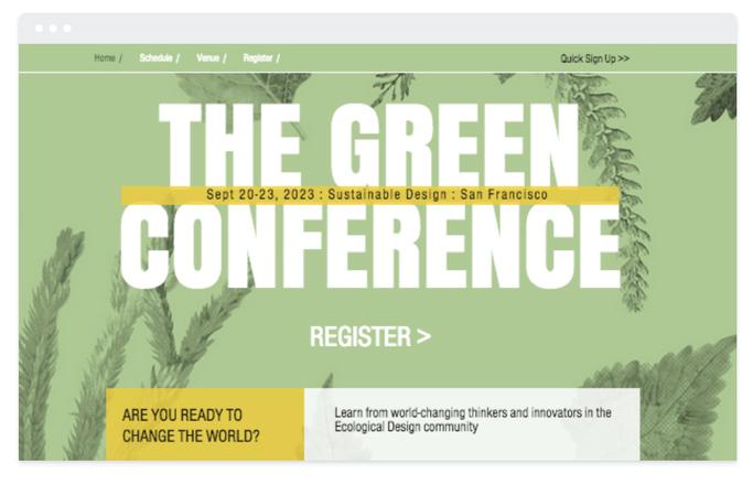 Site éphemere Conférence
