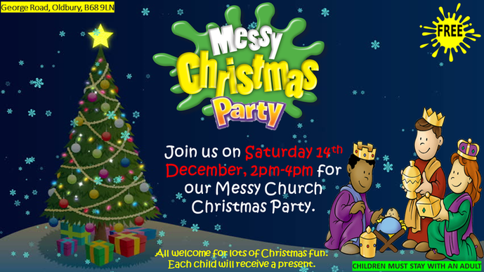 Messy Christmas Party Saturday 14th December 2019