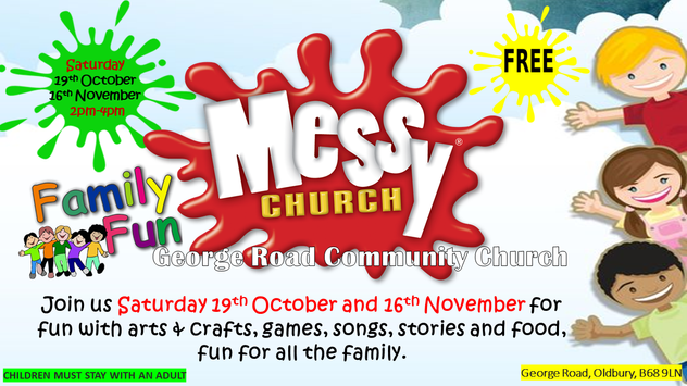 Messy Church October and November 2019 dates