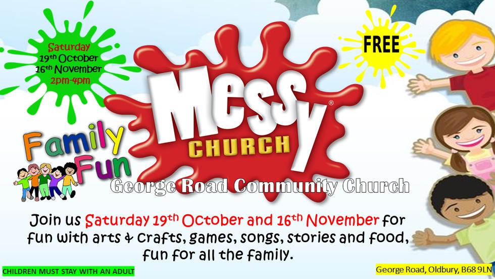 Messy Church October and November 2019 dates