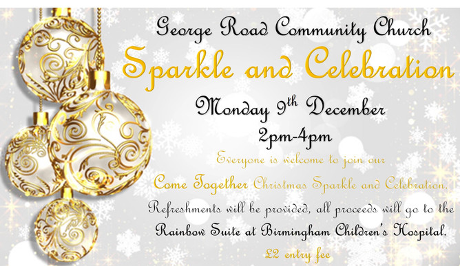 Sparkle and Celebration Monday 9th December 2019