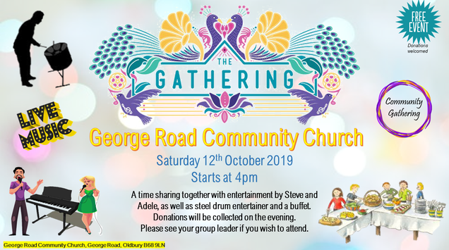 The gathering Saturday 12th October 2019