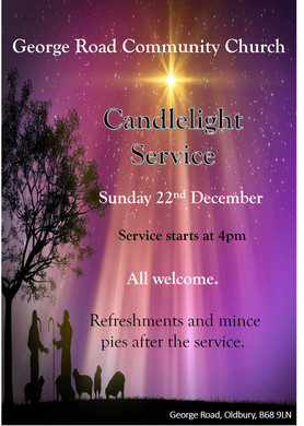 Candle Light Service Sunday 22nd December 2019