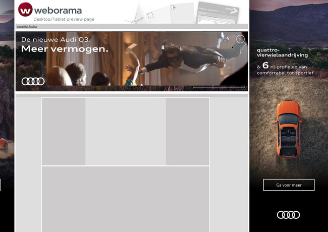 Audi Q3 online campagne