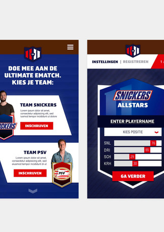 Snickers e-match landing