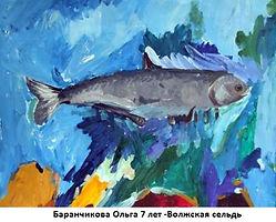 Баранчикова Ольга 7 лет -Волжская сельдь