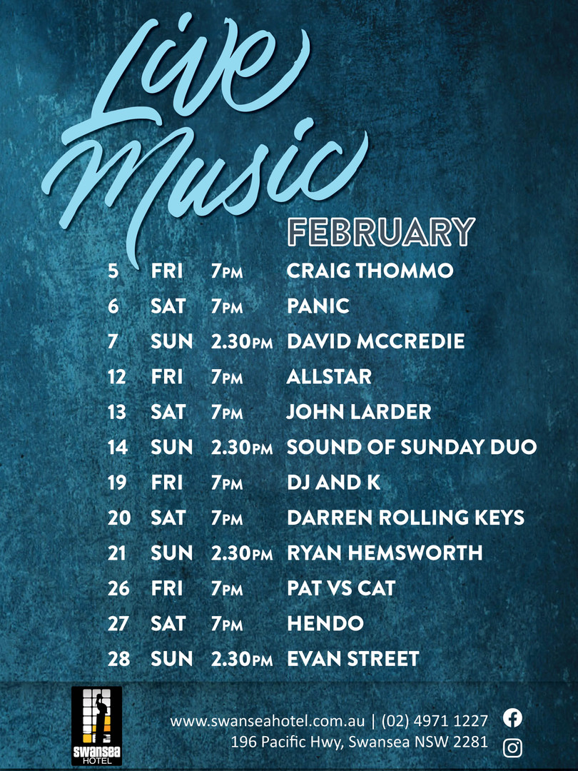 February Live Entertainment