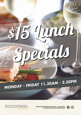 Kincumber Hotel Lunch Specials