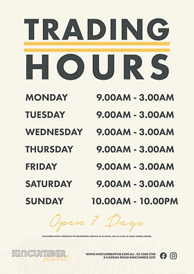 Kincumber Hotel Trading Hours