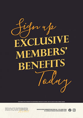 Kincumber Hotel Members Benefits