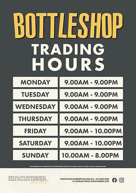 Kincumber Hotel Bottle Shop Trading Hours