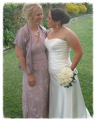 Jenny and her daughter Melanie after officiating her wedding
