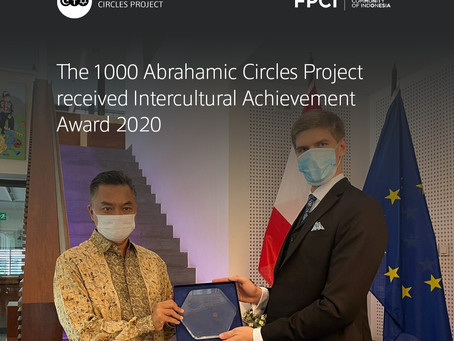The 1000 Abrahamic Circles Project received Intercultural Achievement Award 2020