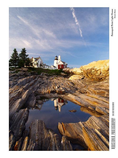 "Pemaquid Point Light House, Maine (7x10"")"