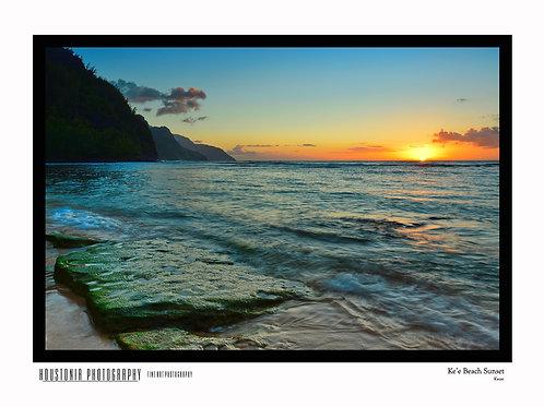"Ke'e Beach Sunset (12x18"")"