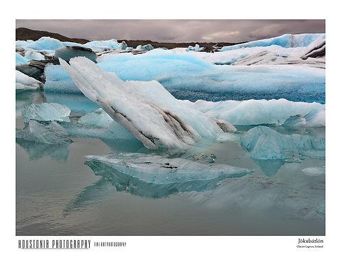 "Glacier Lagoon, Iceland (7x10"")"