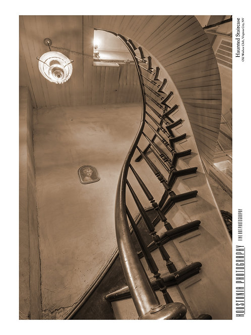 """Haunted Staircase (7x10"""")"""