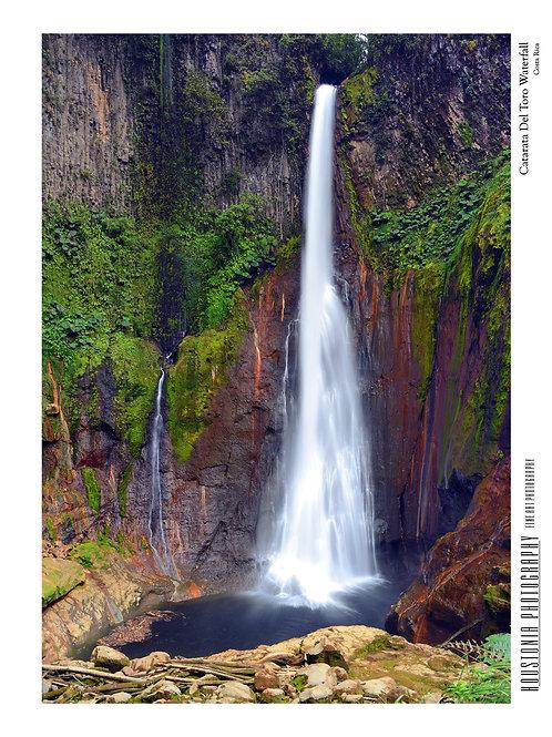 """Catarata Del Toro, Costa Rica (7x10"""")"""