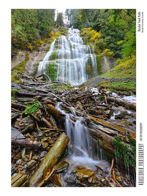 """Bridal Veil Falls, Canada (7x10"""")"""