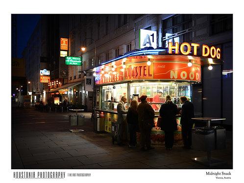 "Vienna Food Stand, Austria (7x10"")"