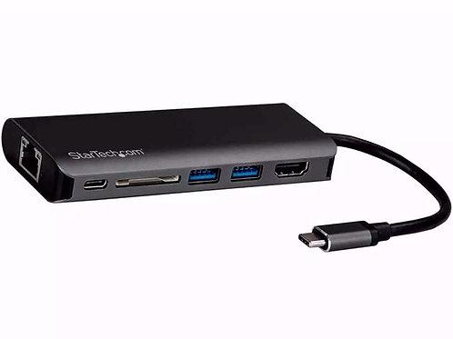 ADAPTADOR USBC A RJ45, HDMI, USBC, 2 USB3, SD, MICRO SD