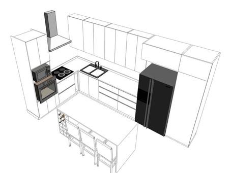 Lưu ý khi thiết kế, thi công không gian tủ bếp