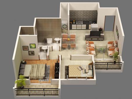 Kinh nghiệm thiết kế chung cư 2 phòng ngủ