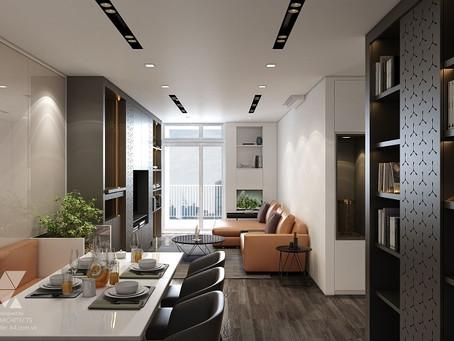 Dự án thiết kế, thi công nội thất nhà dân dụng trong công trình căn hộ của Mr Duy
