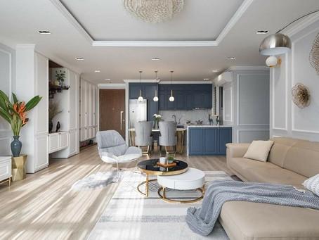 Tư vấn thiết kế nội thất phòng khách cho căn hộ lớn