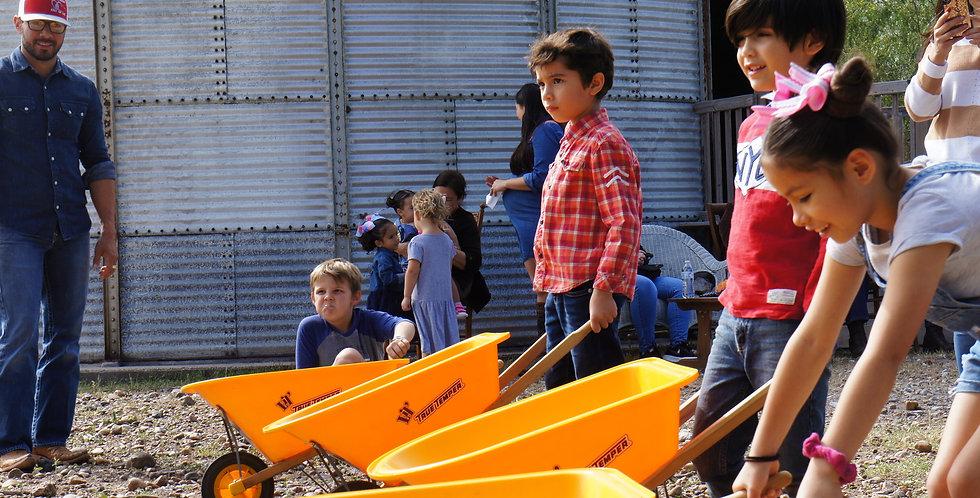 Wheelbarrow races!